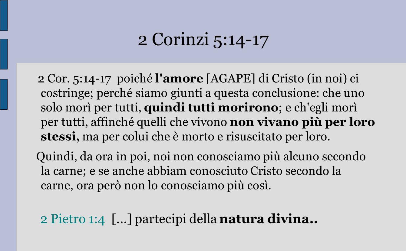 2 Pietro 1:4 [...] partecipi della natura divina..